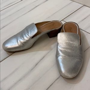 Madewell Silver Mules